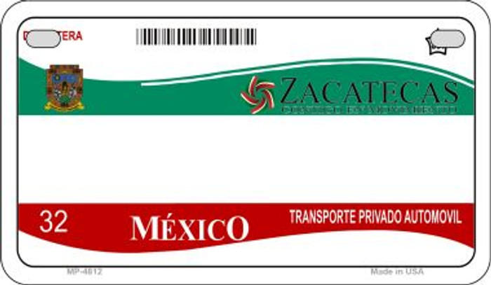 Zacatecas Mexico Blank Background Novelty Metal Motorcycle Plate MP-4812