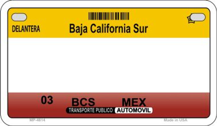 Baja California Sur Mexico Blank Background Novelty Metal Motorcycle Plate MP-4814