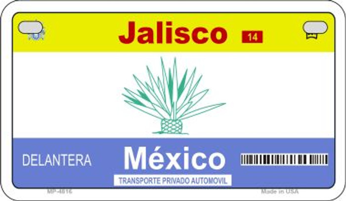 Jalisco Mexico Blank Background Novelty Metal Motorcycle Plate MP-4816