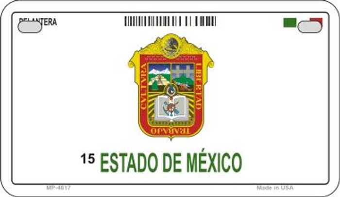 Estado De Mexico Mexico Blank Background Novelty Metal Motorcycle Plate MP-4817