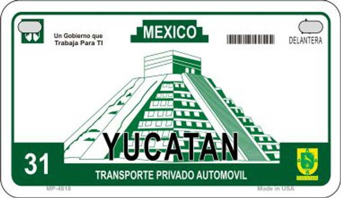 Ycatan Mexico Blank Background Novelty Metal Motorcycle Plate MP-4818