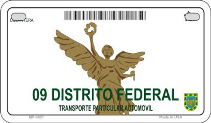 Distrito Federal Mexico Blank Background Novelty Metal Motorcycle Plate MP-4821