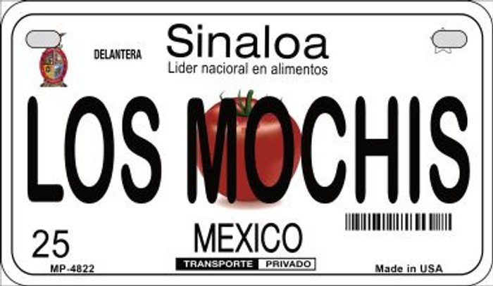 Los Mochis Mexico Novelty Metal Motorcycle Plate MP-4822