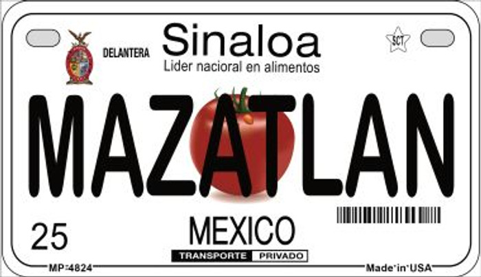 Mazatlan Mexico Novelty Metal Motorcycle Plate MP-4824