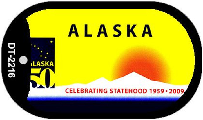 Alaska State Background Blank Novelty Metal Dog Tag Necklace DT-2216