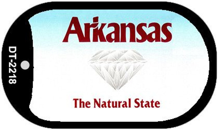 Arkansas State Background Blank Novelty Metal Dog Tag Necklace DT-2218