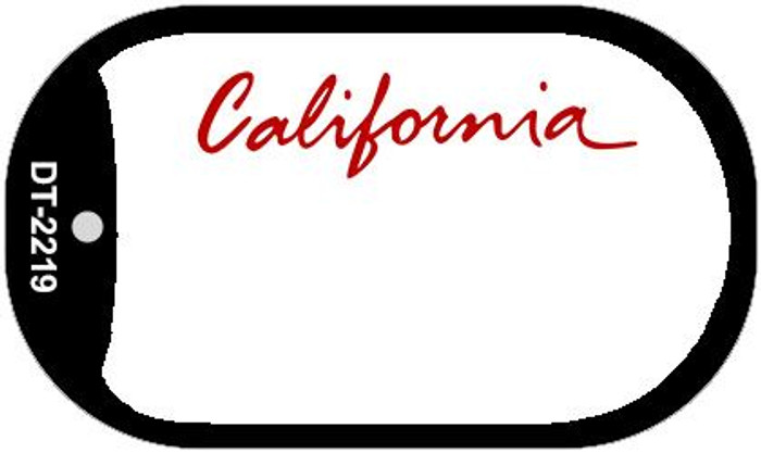 California State Background Blank Novelty Metal Dog Tag Necklace DT-2219