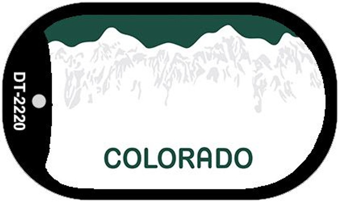 Colorado State Background Blank Novelty Metal Dog Tag Necklace DT-2220
