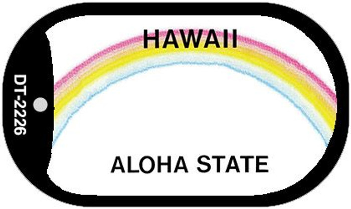 Hawaii State Background Blank Novelty Metal Dog Tag Necklace DT-2226