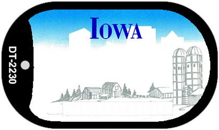 Iowa State Background Blank Novelty Metal Dog Tag Necklace DT-2230