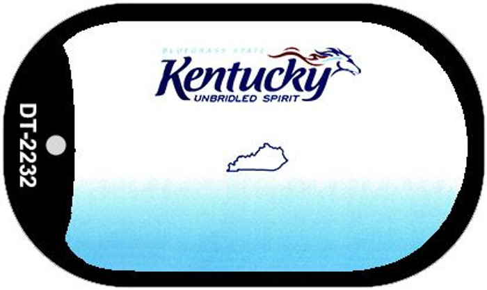 Kentucky State Background Blank Novelty Metal Dog Tag Necklace DT-2232