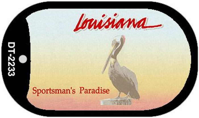 Louisiana State Background Blank Novelty Metal Dog Tag Necklace DT-2233