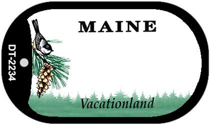 Maine State Background Blank Novelty Metal Dog Tag Necklace DT-2234