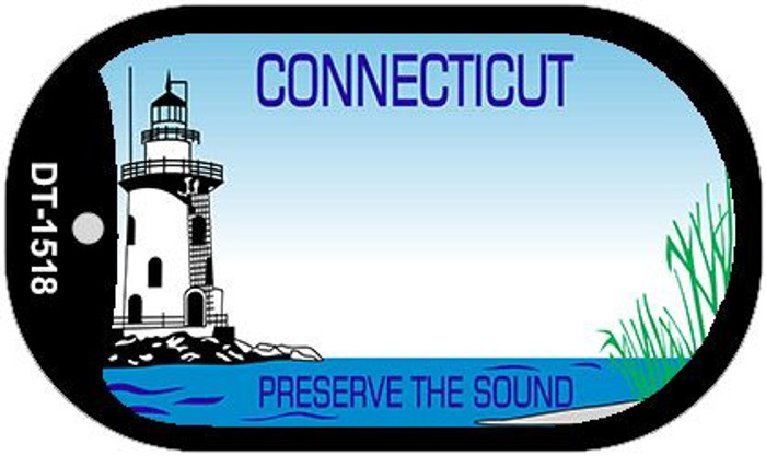 Connecticut State Background Blank Novelty Metal Dog Tag Necklace DT-1518