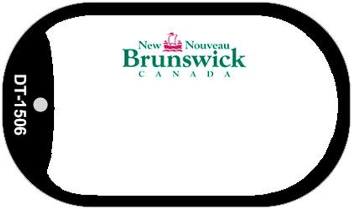 New Brunswick Blank Background Novelty Metal Dog Tag Necklace DT-1506