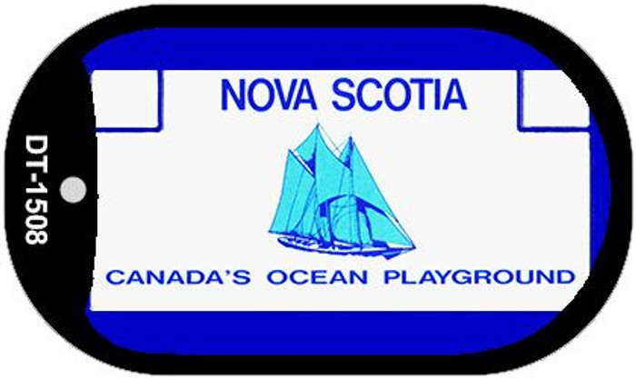 Nova Scotia Blank Background Novelty Metal Dog Tag Necklace DT-1508