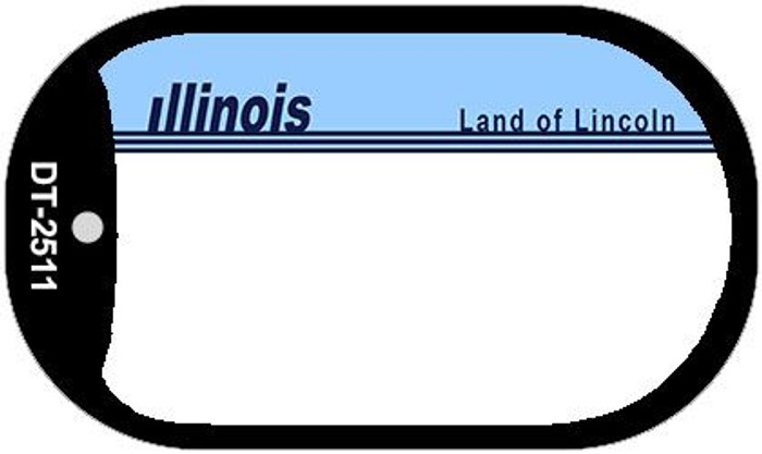 Illinois State Background Blank Novelty Metal Dog Tag Necklace DT-2511