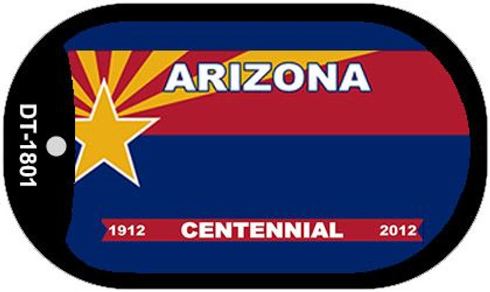 Arizona Centennial State Background Blank Novelty Metal Dog Tag Necklace DT-1801
