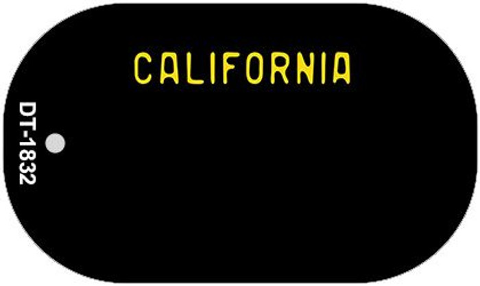 California Black State Background Blank Novelty Metal Dog Tag Necklace DT-1832