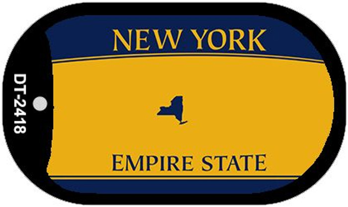 New York State Background Blank Novelty Metal Dog Tag Necklace DT-2418