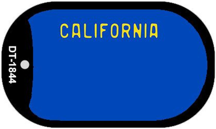 California Blue State Background Blank Novelty Metal Dog Tag Necklace DT-1844
