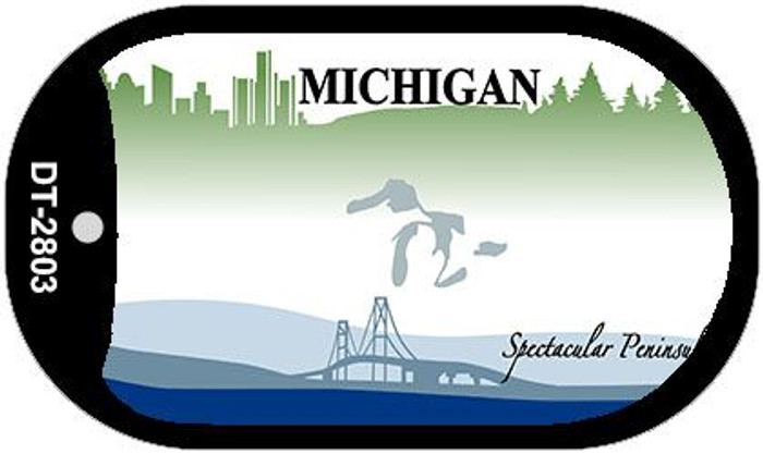 Michigan State Background Blank Novelty Metal Dog Tag Necklace DT-2803