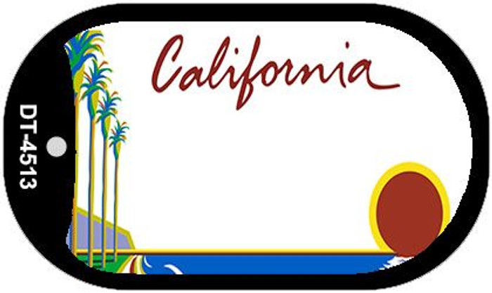 California State Background Blank Novelty Metal Dog Tag Necklace DT-4513