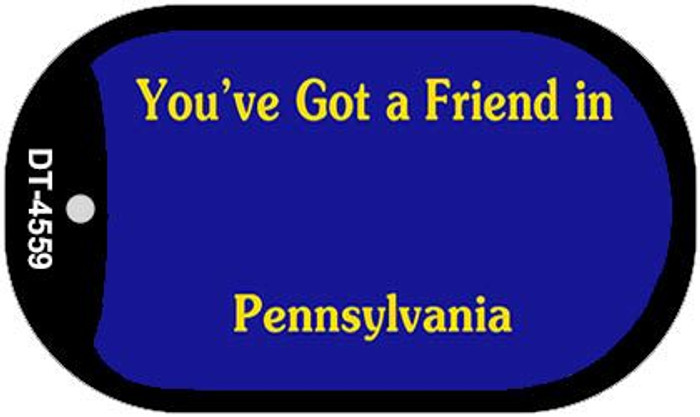 Pennsylvania State Background Blank Novelty Metal Dog Tag Necklace DT-4559