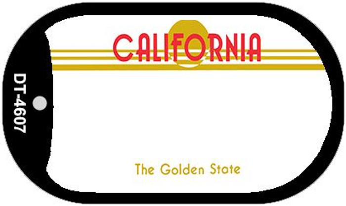 California State Background Blank Novelty Metal Dog Tag Necklace DT-4607