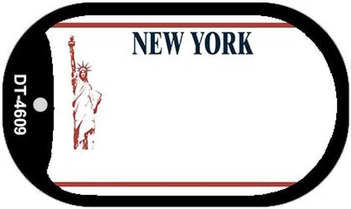 New York State Background Blank Novelty Metal Dog Tag Necklace DT-4609