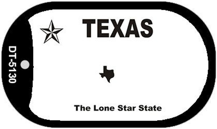 Texas State Background Blank Novelty Metal Dog Tag Necklace DT-5130