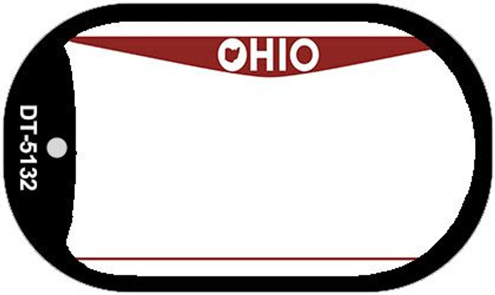 Ohio State Background Blank Novelty Metal Dog Tag Necklace DT-5132