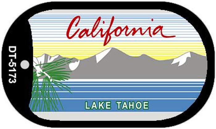 California Lake Tahoe State Background Blank Novelty Metal Dog Tag Necklace DT-5173
