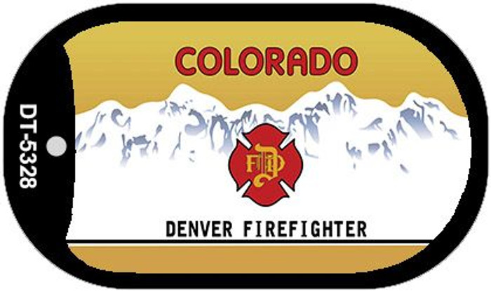 Colorado Denver Firefighter State Background Blank Novelty Metal Dog Tag Necklace DT-5328
