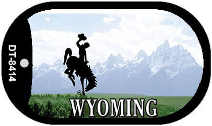 Wyoming State Background Blank Novelty Metal Dog Tag Necklace DT-8414