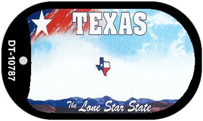 Texas State Background Blank Novelty Metal Dog Tag Necklace DT-10787