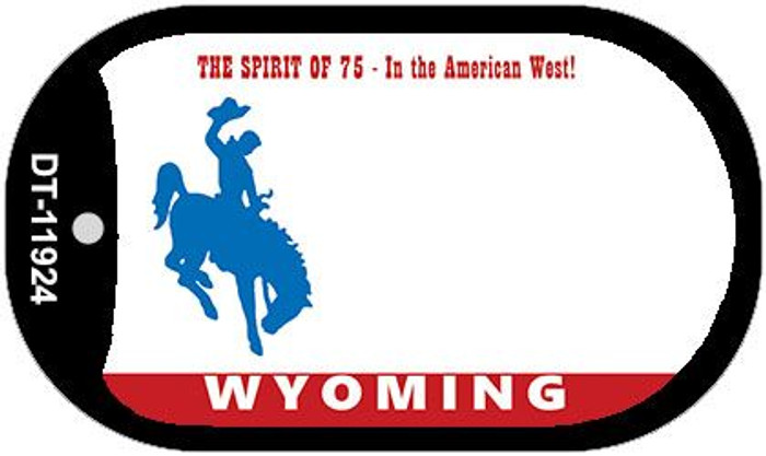 Wyoming State Background Blank Novelty Metal Dog Tag Necklace DT-11924