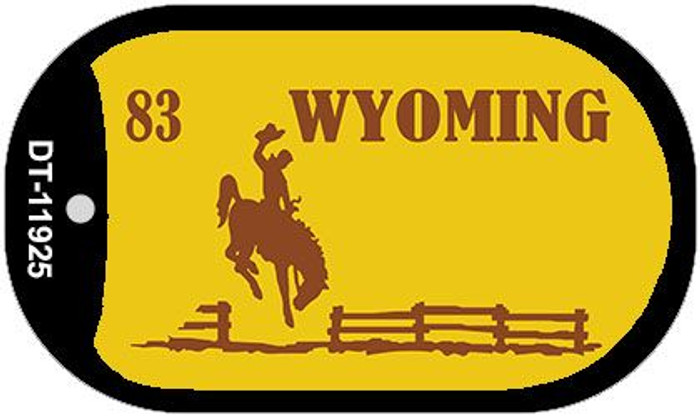 Wyoming Yellow State Background Blank Novelty Metal Dog Tag Necklace DT-11925