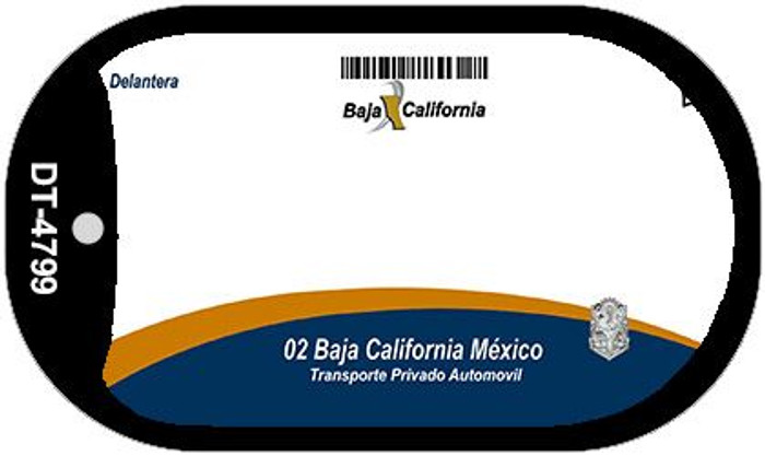 Baja California Mexico Blank Background Novelty Metal Dog Tag Necklace DT-4799