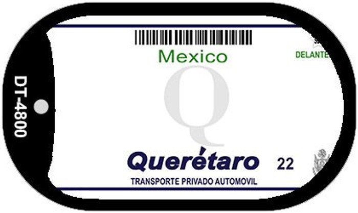 Queretaro Mexico Blank Background Novelty Metal Dog Tag Necklace DT-4800