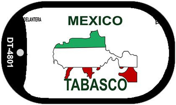 Tabasco Mexico Blank Background Novelty Metal Dog Tag Necklace DT-4801