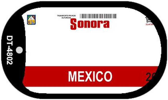 Sonora Mexico Blank Background Novelty Metal Dog Tag Necklace DT-4802