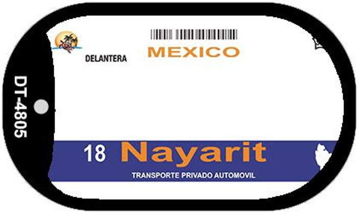 Nayarit Mexico Blank Background Novelty Metal Dog Tag Necklace DT-4805