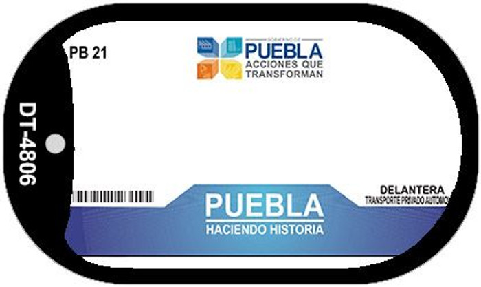 Puebla Mexico Blank Background Novelty Metal Dog Tag Necklace DT-4806