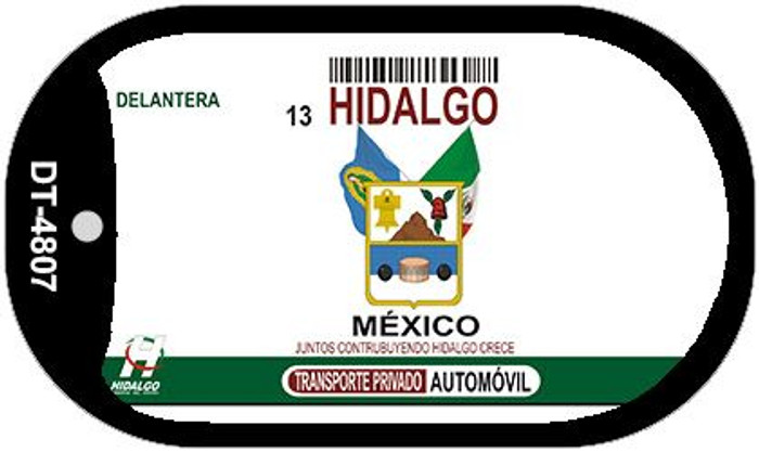 Hidalgo Mexico Blank Background Novelty Metal Dog Tag Necklace DT-4807