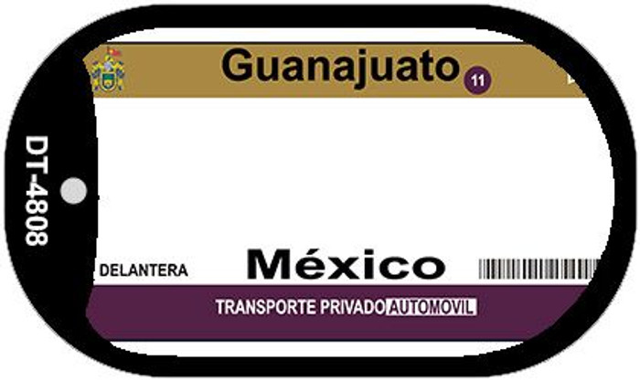 Guanajuato Mexico Blank Background Novelty Metal Dog Tag Necklace DT-4808