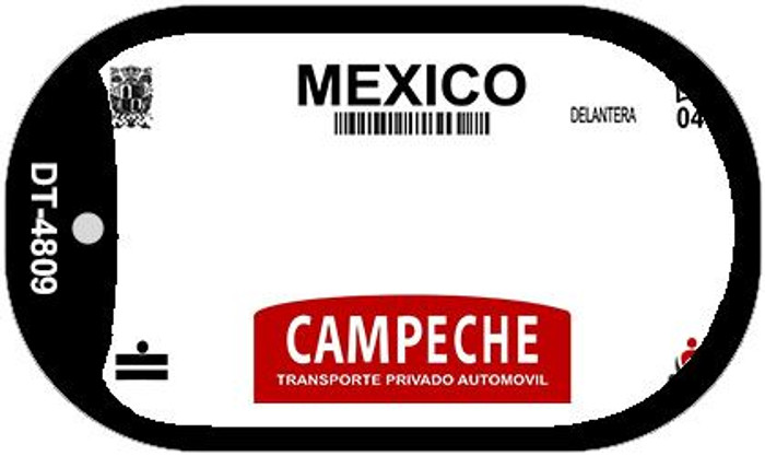 Campeche Mexico Blank Background Novelty Metal Dog Tag Necklace DT-4809