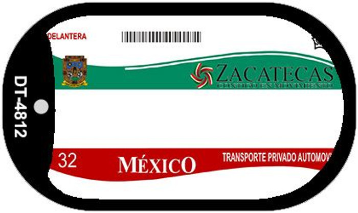 Zacatecas Mexico Blank Background Novelty Metal Dog Tag Necklace DT-4812
