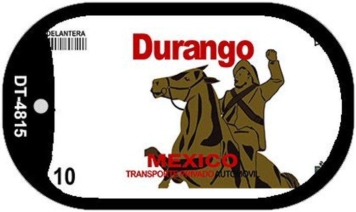 Durango Mexico Blank Background Novelty Metal Dog Tag Necklace DT-4815