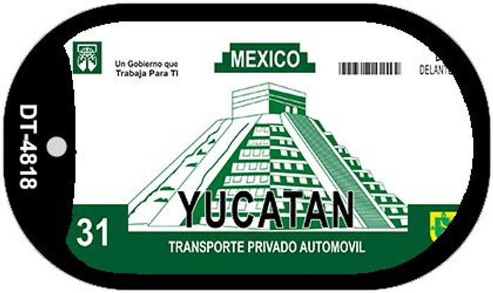 Ycatan Mexico Blank Background Novelty Metal Dog Tag Necklace DT-4818